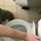 An overhead hidden camera records a girl taking a piss and a shit while sitting on a toilet. Pissing and plop sounds are clearly heard, but no product is seen. Presented in 720P HD. Over 1.5 minutes.